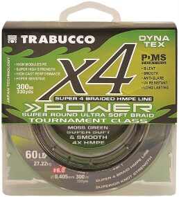 Шнур Trabucco Dyna-Tex 4X Power 150m (moss green) #2.0/0.235mm 30lb/13.61kg