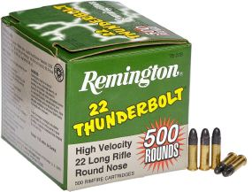 Патрон Remington Thunderbolt High Velocity кал .22 LR пуля RN масса 40 гр (2.6 г)
