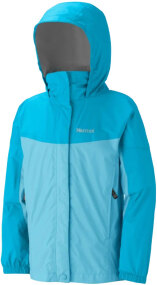 Куртка Marmot Girl's precip jacket ц:blue radiance/breeze blue