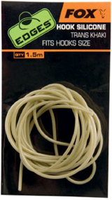 Кембрик силиконовый Fox International Edges Hook Silicone Trans Khaki Fits Hooks Size 10 - 7