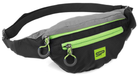 Сумка на пояс Spokey BOREAS(839665) black/lime
