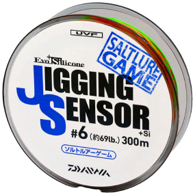 Шнур Daiwa UVF Jigging Sensor +Si 300m (Multi Color) 6.0#/0.45mm 31kg/67lb