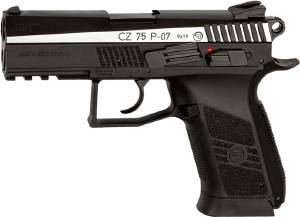 Пистолет пневматический ASG CZ 75 P-07 Duty Blowback. Корпус - металл