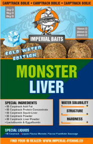 Бойлы Imperial Baits Carptrack Monster Liver Boilie 30мм 300г