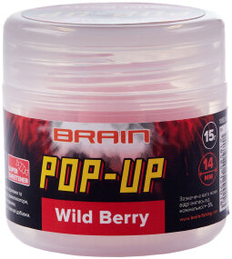 Бойлы Brain Pop-Up F1 Wild Berry (земляника) 14mm 15g