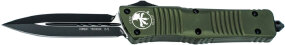 Нож Microtech Combat Troodon Double Edge Black Blade. Ц: olive