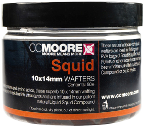 Бойлы CC Moore Squid Hookbaits Wafters 10х14мм
