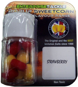 Искусственная насадка Enterprise tackle Classic Popup Sweetcorn Range Strawberry Red
