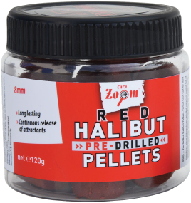 Пеллетс CarpZoom Pre-Drilled Red Halibut Pellets 15мм 120г