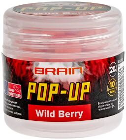 Бойлы Brain Pop-Up F1 Wild Berry (земляника) 10mm 20g