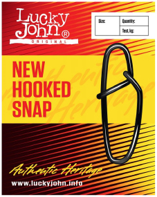 Застежка Lucky John New Hooked Snap №6 70кг (10шт/уп)