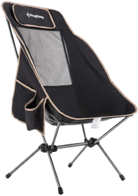 Кресло KingCamp High-Backed Folding Chair Black