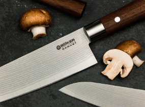 Нож кухонный Boker Damascus Walnut Chef's