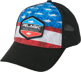 Кепка Pelagic Offshore Print Fishing Hat - Duo ц:americamo blue