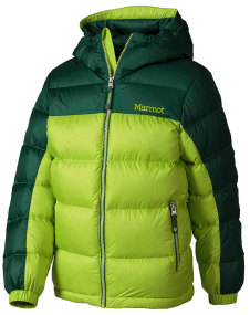 Куртка MARMOT Boys Guides Down Hoody ц:vermouth/deep forest