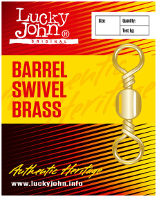 Вертлюжок Lucky John Barrel Swivel Brass №1 45кг (10шт/уп)