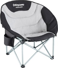 Кресло KingCamp Deluxe Moon Camping Chair ц:black/grey