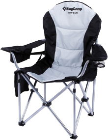 Кресло KingCamp Deluxe Hard Arms Chair Black/Mid Grey